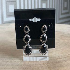 Jewelry - Black Crystal Drop Earrings